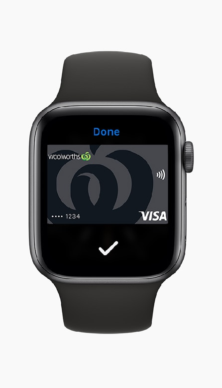 Woolworths Credit Card with Apple Pay iWatch