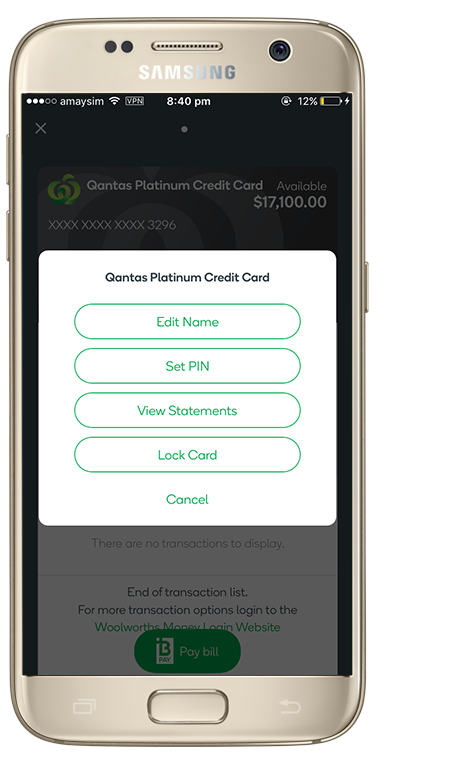 View and Share eStatements | The Woolworths Money App